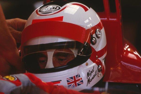 Nigel Mansell (GBR), Ferrari 641, DNF.German Grand Prix, Hockenheim, Germany, 29 July 1990.