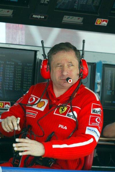 Jean Todt (FRA) Ferrari General Manager.Formula One World Championship, Rd4, San Marino Grand Prix, Imola, Italy, 18 April 2003.DIGITAL IMAGE