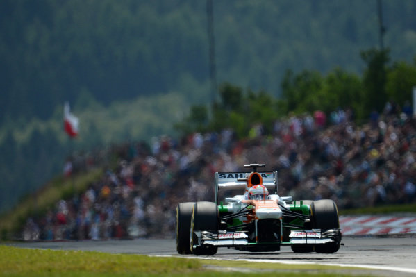 Paul di Resta (GBR) Force India VJM06. Formula One World Championship, Rd9, German Grand Prix, Qualifying, Nurburgring, Germany, Saturday 6 July 2013.