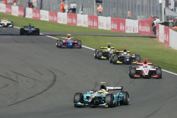 2007 GP2 Series Round 5. Silverstone, England. 8th July 2007. Sunday Race.Roldan Rodriguez (ESP, Minardi Piquet Sports). Action. World Copyright: Andrew Ferraro/GP2 Series Media Service.ref: Digital Image _F6E6562