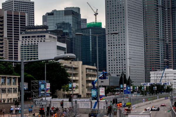 2016/2017 FIA Formula E Championship. Hong Kong ePrix, Hong Kong, China. Saturday 8 October 2016. Loic Duval (FRA), Dragon Racing, Spark-Penske, Penske 701-EV.  Photo: Zak Mauger/LAT/Formula E ref: Digital Image _L0U0529