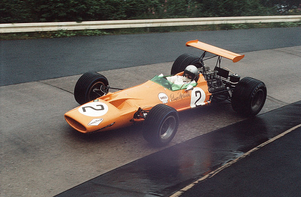 Nurburgring, Germany.2-4 August 1968.Bruce McLaren (McLaren M7A Ford) 13th position.Ref-35mm 68 GER 08World Copyright - LAT Photographic