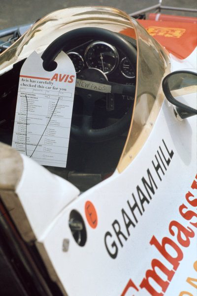 1973 Dutch Grand Prix.  Zandvoort, Netherlands. 27-29th July 1973.  A note left by mechanics in Graham Hill's Shadow DN1 Ford (reads: Avis has carefully checked this car for you).  Ref: 73HOL27. World Copyright: LAT Photographic