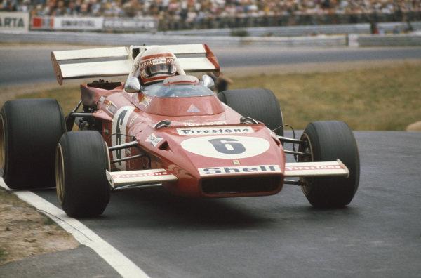 1971 German Grand Prix.  Nurburgring, Germany. 30th July - 1st August 1971.  Clay Regazzoni, Ferrari 312B2, 3rd position.  Ref: 71GER16. World Copyright: LAT Photographic