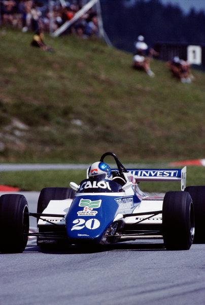 1982 Austrian Grand Prix.Osterreichring, Zeltweg, Austria.13-15 August 1982.Chico Serra (Fittipaldi F9 Ford) 7th position.Ref-82 AUT 45.World Copyright - LAT Photographic