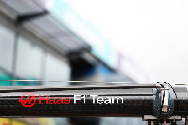 Albert Park, Melbourne, Australia. Wednesday 22 March 2017. HAAS F1 team pit Gantry   World Copyright: Sam Bloxham/LAT Images ref: Digital Image AJ6I0106
