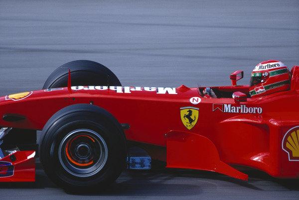 1999 Austrian Grand Prix.A1 Ring, Zeltweg, Austria.23-25 July 1999.Eddie Irvine (Ferrari F399) 1st position.Ref-99 AUT 07.World Copyright - LAT Photographic