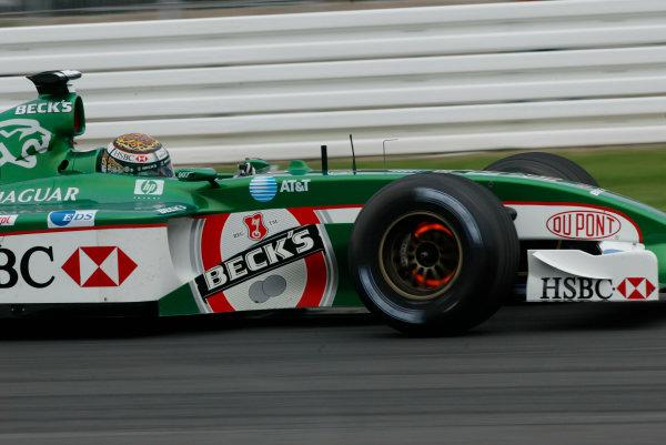 2002 German Grand Prix - Friday PracticeHockenheim, Germany. 26th July 2002.Eddie Irvine (Jaguar R3).World Copyright - LAT Photographicref: digital file