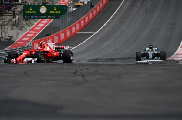 Kimi Raikkonen (FIN) Ferrari SF70-H at Formula One World Championship, Rd9, Austrian Grand Prix, Race, Spielberg, Austria, Sunday 9 July 2017.