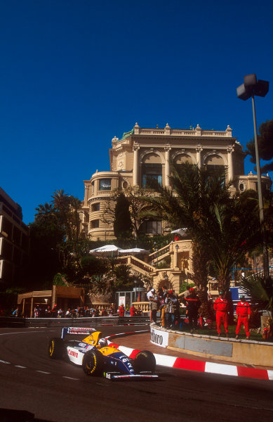 1993 Monaco Grand Prix.Monte Carlo, Monaco.20-23 May 1993.Alain Prost (Williams FW15C Renault) 4th position at Loews Hairpin.Ref-93 MON 21.World Copyright - LAT Photographic