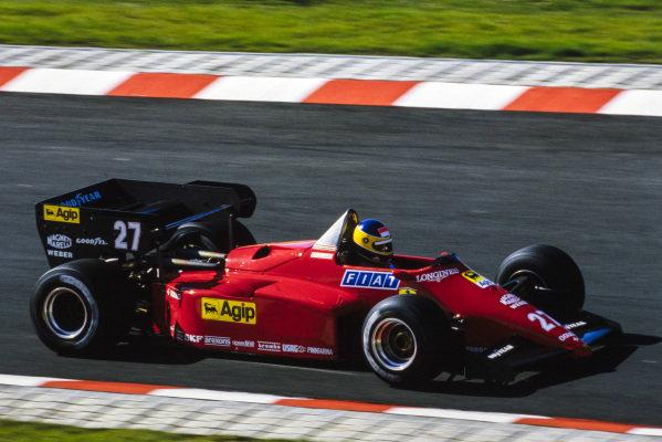 Michele Alboreto, Ferrari 126C4.