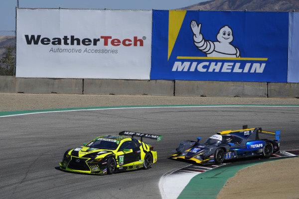 #14: Vasser Sullivan Lexus RC F GT3, GTD: Jack Hawksworth , Aaron Telitz, #11: WIN Autosport ORECA LMP2 07, LMP2: Steven Thomas, Tristan Nunez