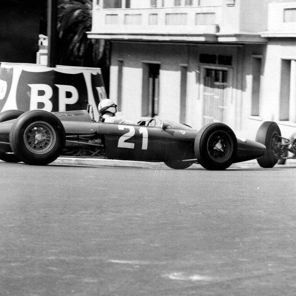 1963 Monaco Grand Prix.Monte Carlo, Monaco.23-26 May 1963.John Surtees (Ferrari Dino 156) 4th position.Ref-19037.World Copyright - LAT Photographic