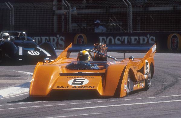 1990 Australian Grand Prix.Adelaide, Australia.2-4 November 1990.A 1971 McLaren M8F can-am car in a support raceRef-90 AUS 23.World Copyright - LAT Photographic