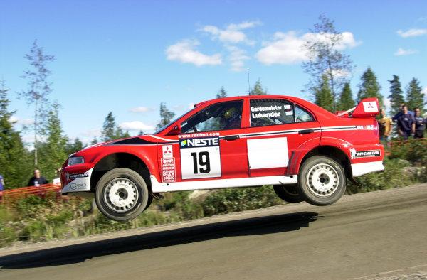2001 World Rally Championship.Neste Rally Finland. Jyvaskyla, August 24-26, 2001.Toni Gardemeister during shakedown.Photo: Ralph Hardwick/LAT