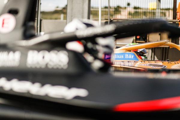 Jean-Eric Vergne (FRA), DS Techeetah, DS E-Tense FE20, side by side with Andre Lotterer (DEU), Tag Heuer Porsche, Porsche 99x Electric