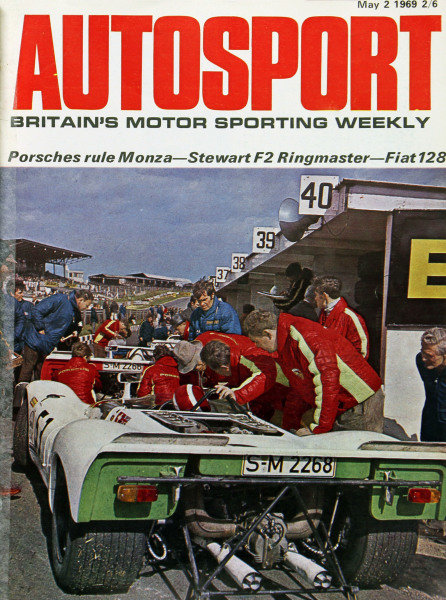 Cover of Autosport magazine, 2nd May 1969