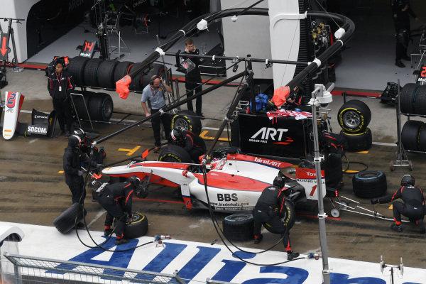 Nobuharu Matsushita (JPN) ART Grand Prix makes a pitstop at GP2 Series, Rd4, Spielberg, Austria, 1-3 July 2016.