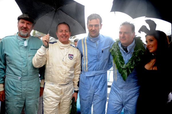 Goodwood Estate, West Sussex, 15th - 18th September 2011 RAC Tourist Trophy Mark Hales/Martin Brundle, Ferrari GTO, 2nd position, with Hill/Colasacco, 3rd position, portrait. World Copyright:Jeff Bloxham/LAT Photographic Ref: Digital Image
