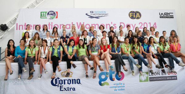 FIA Women in Motorsport International Women's Day 2014. FIA World Rally Championship, Rd3, Rally Guanajuato Mexico, Preparations, Leon, Mexico, Thursday 6 March 2014.